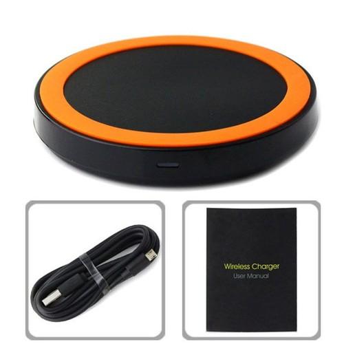 chargeur d 39 alimentation sans fil qi pour iphone samsung galaxy s3 s4 note 2 nexus orange. Black Bedroom Furniture Sets. Home Design Ideas