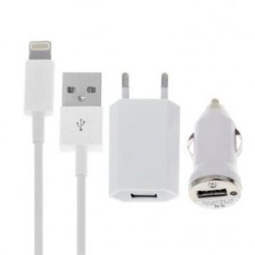 chargeur iphone 5 5s 5c ipad mini et nouvelle g n ration pack 1 prise secteur 1 c ble 1. Black Bedroom Furniture Sets. Home Design Ideas
