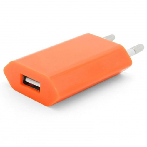 chargeur orange adaptateur prise secteur mural cable usb ipad iphone samsung nokia htc. Black Bedroom Furniture Sets. Home Design Ideas