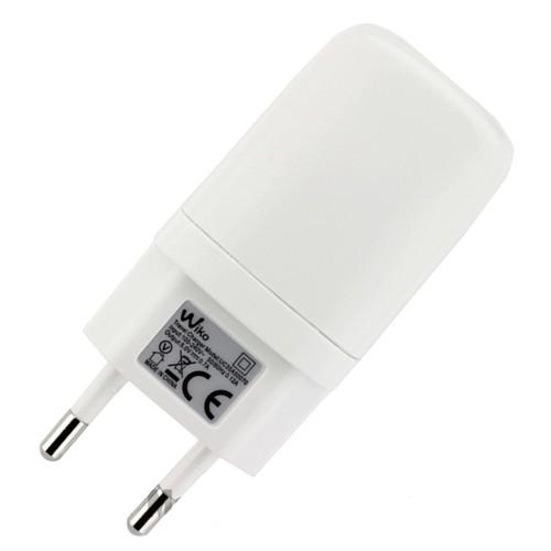 chargeur original wiko blanc charge prise de courant cable cordon micro usb pour lenny 1 2 3. Black Bedroom Furniture Sets. Home Design Ideas