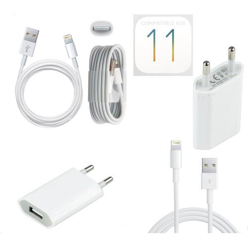 chargeur secteur cable usb pour iphone 7 7plus 8 8plus couleur. Black Bedroom Furniture Sets. Home Design Ideas