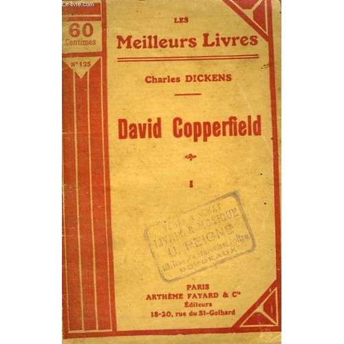 david copperfield tome 1 collection les meilleurs livres n 125. Black Bedroom Furniture Sets. Home Design Ideas
