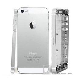 chassis coque arri re blanc silver pour apple iphone 5 tournevis. Black Bedroom Furniture Sets. Home Design Ideas