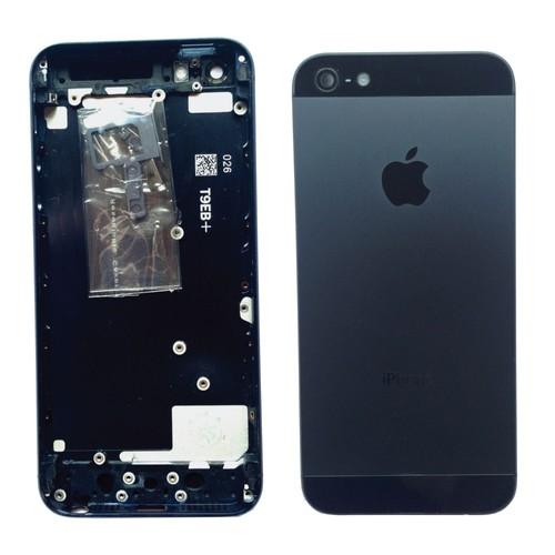 ch ssis coque arri re noir ardoise pour apple iphone 5 tournevis. Black Bedroom Furniture Sets. Home Design Ideas