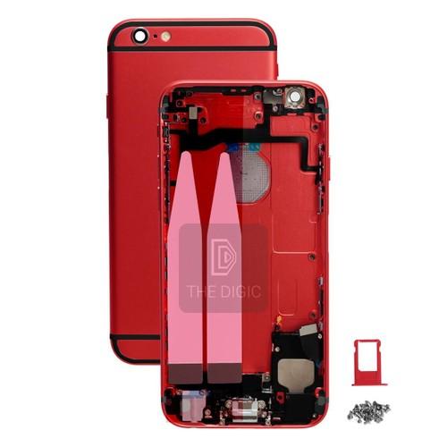 ch ssis coque arri re pr mont pour iphone 6s 4 7 rouge noir. Black Bedroom Furniture Sets. Home Design Ideas