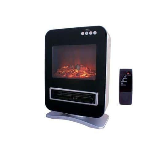 chauffage cheminee electrique reproduction de foyer a buches decoration souffleur 2000w. Black Bedroom Furniture Sets. Home Design Ideas
