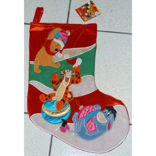 chaussette de noel bourriquet tigrou winnie disney store - Chaussette De Noel Disney