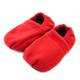 Chaussons Chauffants Taille L 39-42 Rouge