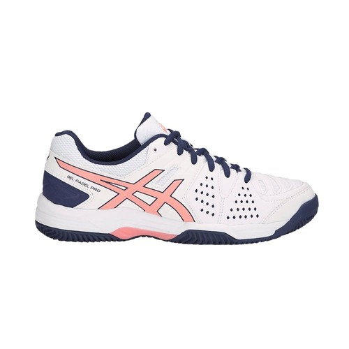 2088df4a6439bc Chaussures : Asics Gel Padel Pro 3 Sg Blanc Rose Femme E561y 113-Taille-39