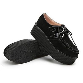 8aaafea802809 Gothique Motif Cuir Creepers Bottines Chaussures Style Étoiles Femme  xqY6zS4vw