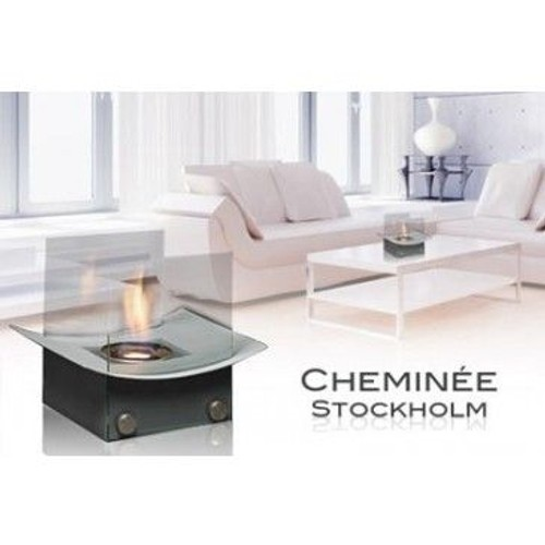 Cheminee de table bioethanol noire pas cher for Cheminee de table ethanol
