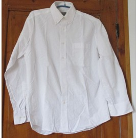 Chemise Coton Blanche Marks & Spencer - Collection Cotton Oxford - Manches Longues - Col � Pointes Boutonn�es - Taille 38 (15)