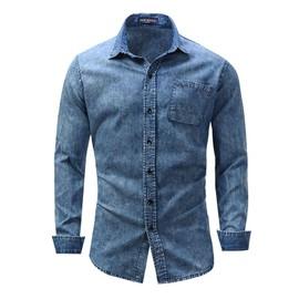225f9e142420b chemise-homme-jean-bleu -en-revers-chemise-homme-noire-manche-longue-de-grande-taille-chemise-homme-xxxl-1157445685 ML.jpg