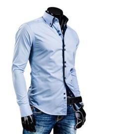 chemise homme marque de luxe hommes vetements 2017 chemise manches longues vetement nouvelle. Black Bedroom Furniture Sets. Home Design Ideas