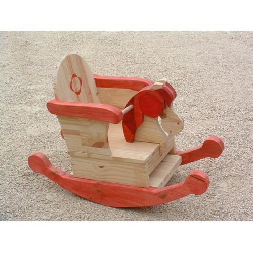 cheval bascule en bois artisanal achat et vente priceminister rakuten. Black Bedroom Furniture Sets. Home Design Ideas