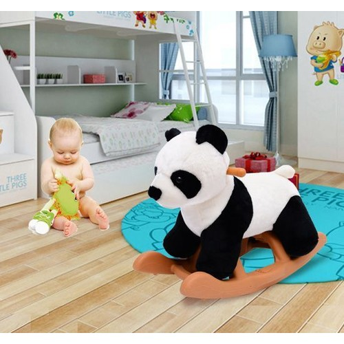 cheval bascule enfant poney panda bascule jouet 61x31x42cm 04. Black Bedroom Furniture Sets. Home Design Ideas