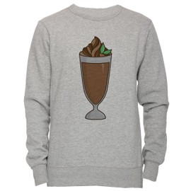 dbb1da62824b chocolat-milk-shake-cocktail-unisexe-homme-femme-sweat-shirt-jersey-pull-over-gris-toutes-les-tailles- men-39-s-women-39-s-jumper-sweatshirt-pullover-grey- ...