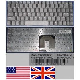Clavier Qwerty US International Pour Packard Bell Easynote BU45, Noir / Black, Model: V030462BS1, P/N: 04GNFS1KUI00
