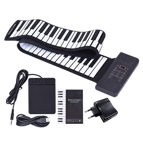 clavier usb lectronique 88 touches pliable portable piano main roll up clavier int gr li ion. Black Bedroom Furniture Sets. Home Design Ideas