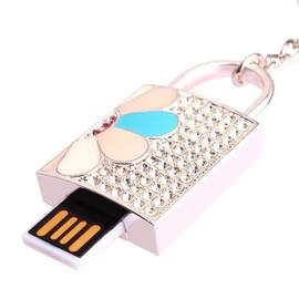 Clé USB Bijou Cadenas Porte Clé De Sac Swarovski élèments Doré Argenté - Porte clé usb