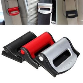 clip pince bloque ceinture de s curit universel rouge blocage auto voiture. Black Bedroom Furniture Sets. Home Design Ideas