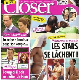 Closer 00321 Fran�ois Hollande & Val�rie Trierweiler, Yannick Noah, Rihanna, Secret Story 5