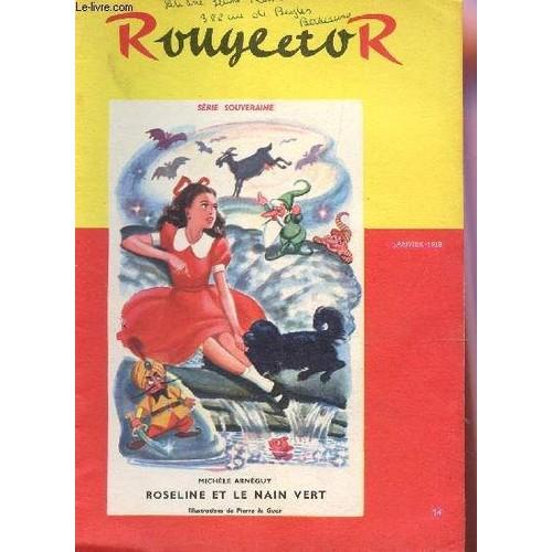 club rouge or n 14 janvier 1958 roseline et le nain vert mixi berel illustrateur le. Black Bedroom Furniture Sets. Home Design Ideas