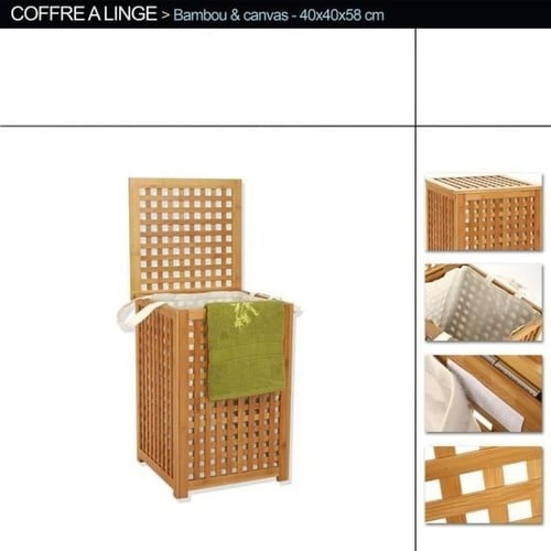 coffre a linge bambou achat et vente priceminister rakuten. Black Bedroom Furniture Sets. Home Design Ideas