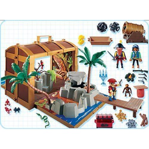 coffre de pirate playmobil achat vente de jouet priceminister rakuten. Black Bedroom Furniture Sets. Home Design Ideas