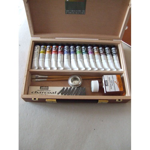 coffret bois 14 tubes peinture huile art pebeo achat et vente. Black Bedroom Furniture Sets. Home Design Ideas