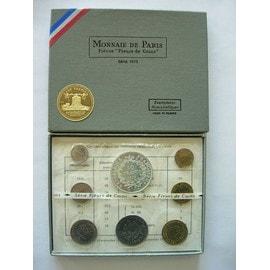 Coffret Fleur De Coin 1973 Monnaie De Paris Fdc Avec 10 Francs Argent Hercule