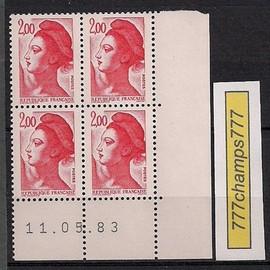 Coin Dat�. Type Libert�. 2,00. Rouge. Y & T 2274.