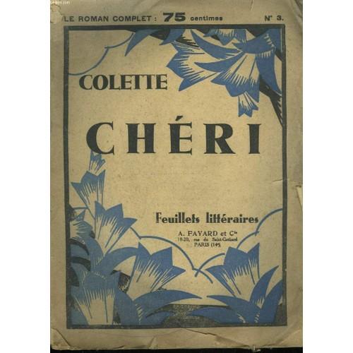 Colette Cheri Feuillets Litteraires N 3 Livre Ancien 876332410 L