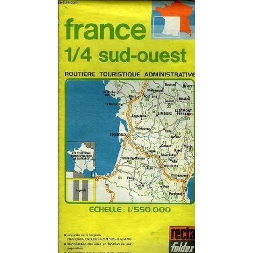 Carte De France France 1/4 Sud Ouest Routiere Et ...