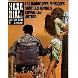 Hara-Kiri Mensuel Journal B�te Et Mechant N�121 - Les Handicapes Physiques Sont Des Hommes Com+Me Les Autres de Collectif