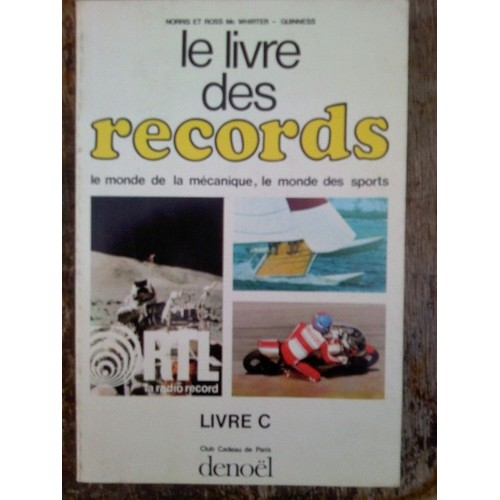 le livre des records livre b livre achat vente neuf occasion. Black Bedroom Furniture Sets. Home Design Ideas