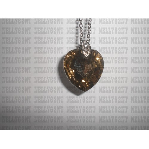Gros Autre Coeur Fantaisie Pendentif Collier BWEdxQeCor