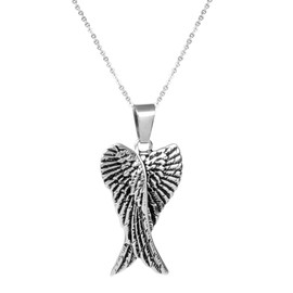 collier homme ange