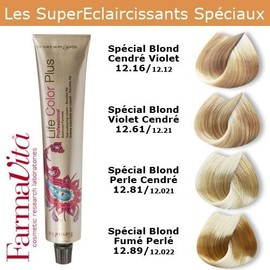 coloration cheveux farmavita super claircissants spciaux spcial blond violet cendr 1261 - Coloration Cheveux 61