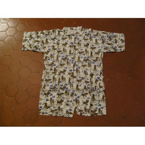 db7c87a084045 Combinaison Courte Jersey Coton Imprimé - Achat et vente - Rakuten