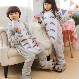 combinaison de pyjama unisexe d 39 animal totoro v tement d 39 hiver pour enfants b b fille gar on. Black Bedroom Furniture Sets. Home Design Ideas
