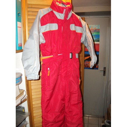 combinaison ski quechua polyester 8 ans rouge achat et vente