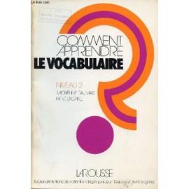 comment apprendre le vocabulaire