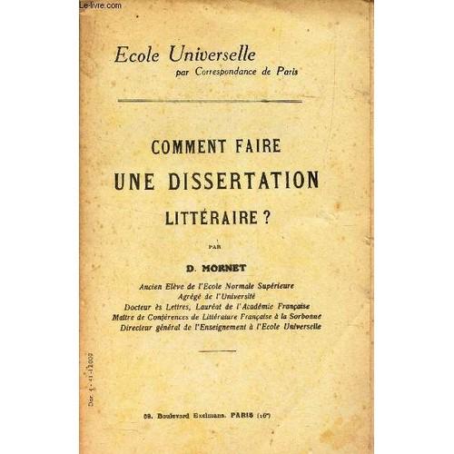 Techniques de dissertation littraire