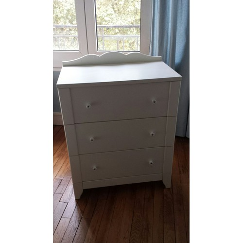 commode blanche 3 tiroirs ikea mod le hensvik achat et vente. Black Bedroom Furniture Sets. Home Design Ideas