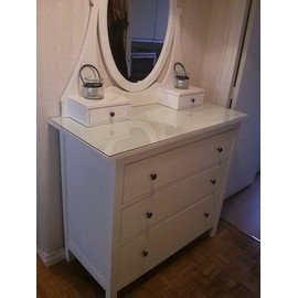 commode ik a hemnes avec miroir pas cher achat vente priceminister. Black Bedroom Furniture Sets. Home Design Ideas
