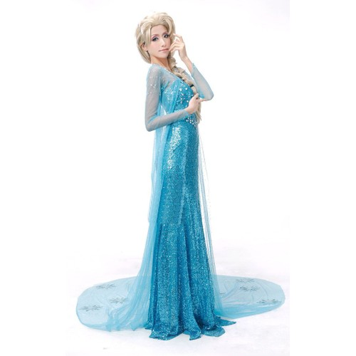comprenant costume robe adulte elsa tra ne blanche d guisement de la reine des neiges frozen