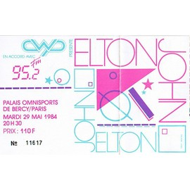 Concert Elton John Au Palais Omnisports De Bercy/Paris