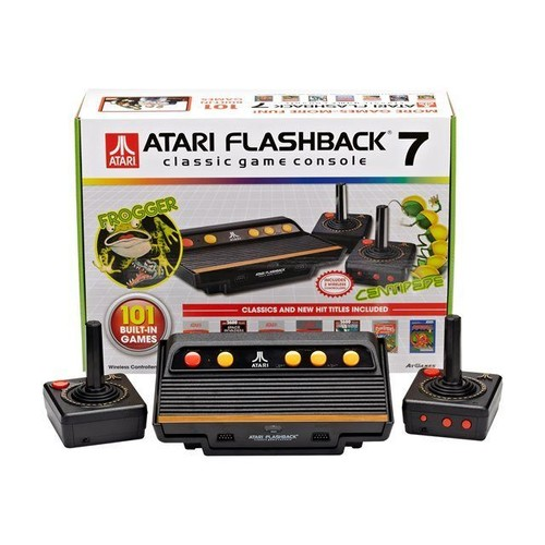 atgames atari flashback 7 101 built in games jeu tv plug and play. Black Bedroom Furniture Sets. Home Design Ideas
