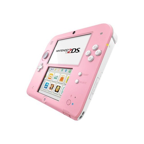 nintendo 2ds console de jeu portable blanc rose pas cher. Black Bedroom Furniture Sets. Home Design Ideas